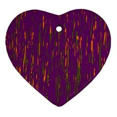 Purple pattern Ornament (Heart)