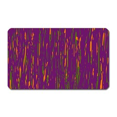 Purple pattern Magnet (Rectangular)