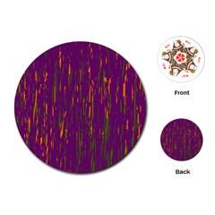 Purple pattern Playing Cards (Round)