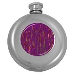 Purple pattern Round Hip Flask (5 oz)