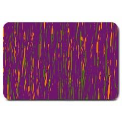 Purple pattern Large Doormat