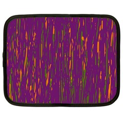 Purple pattern Netbook Case (XXL)