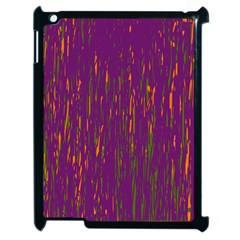 Purple pattern Apple iPad 2 Case (Black)