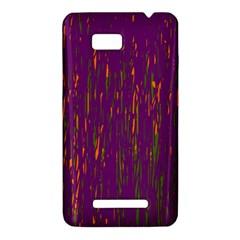 Purple pattern HTC One SU T528W Hardshell Case