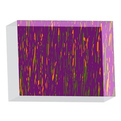 Purple pattern 5 x 7  Acrylic Photo Blocks