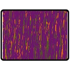 Purple pattern Double Sided Fleece Blanket (Large)
