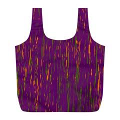 Purple pattern Full Print Recycle Bags (L)