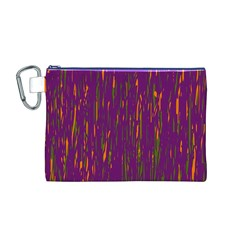 Purple pattern Canvas Cosmetic Bag (M)