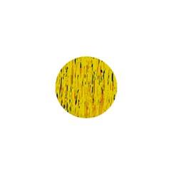 Yellow pattern 1  Mini Buttons