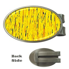 Yellow pattern Money Clips (Oval)