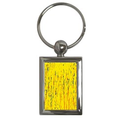 Yellow pattern Key Chains (Rectangle)