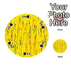 Yellow pattern Playing Cards 54 (Round)