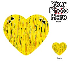 Yellow pattern Playing Cards 54 (Heart)