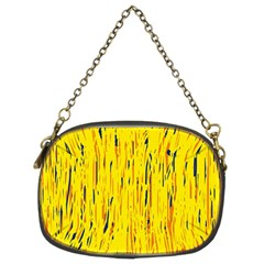 Yellow pattern Chain Purses (Two Sides)