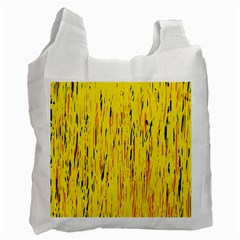 Yellow pattern Recycle Bag (One Side)