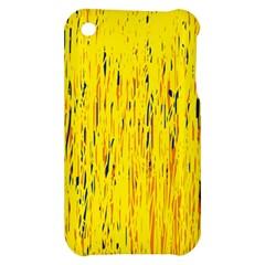 Yellow pattern Apple iPhone 3G/3GS Hardshell Case