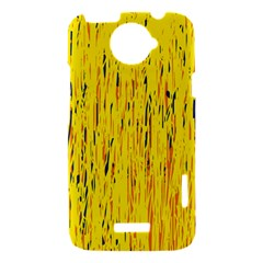 Yellow pattern HTC One X Hardshell Case