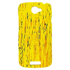 Yellow pattern HTC One S Hardshell Case