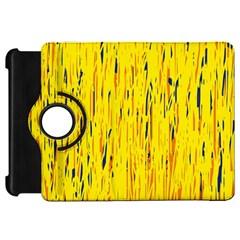 Yellow pattern Kindle Fire HD Flip 360 Case