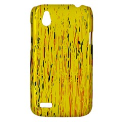 Yellow pattern HTC Desire V (T328W) Hardshell Case