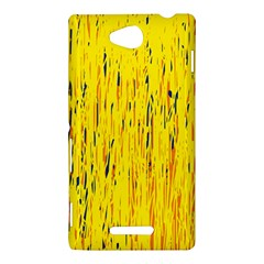 Yellow pattern Sony Xperia C (S39H)