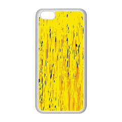 Yellow pattern Apple iPhone 5C Seamless Case (White)