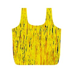 Yellow pattern Full Print Recycle Bags (M)