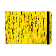 Yellow pattern iPad Mini 2 Flip Cases
