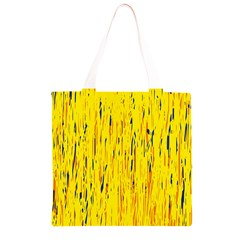 Yellow pattern Grocery Light Tote Bag