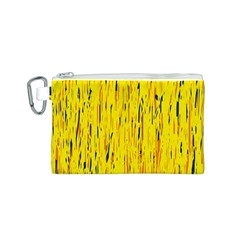 Yellow pattern Canvas Cosmetic Bag (S)