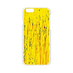Yellow pattern Apple Seamless iPhone 6/6S Case (Transparent)