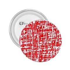 Red decorative pattern 2.25  Buttons