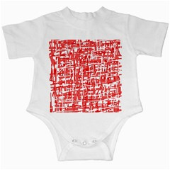 Red decorative pattern Infant Creepers