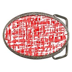 Red decorative pattern Belt Buckles