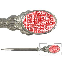 Red decorative pattern Letter Openers