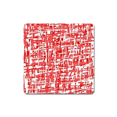 Red decorative pattern Square Magnet