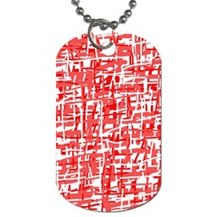 Red decorative pattern Dog Tag (One Side)
