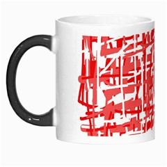 Red decorative pattern Morph Mugs
