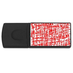 Red decorative pattern USB Flash Drive Rectangular (4 GB)