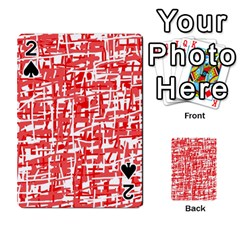 Red decorative pattern Playing Cards 54 Designs