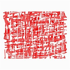 Red decorative pattern Collage Prints