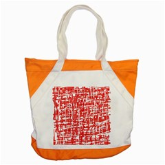 Red decorative pattern Accent Tote Bag