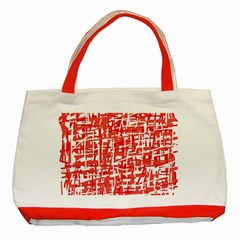 Red decorative pattern Classic Tote Bag (Red)