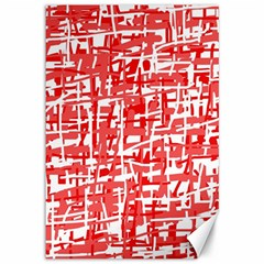 Red decorative pattern Canvas 12  x 18