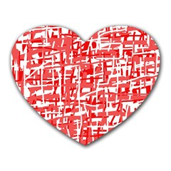 Red decorative pattern Heart Mousepads