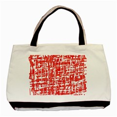Red decorative pattern Basic Tote Bag (Two Sides)