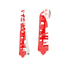 Red decorative pattern Neckties (Two Side)