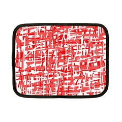 Red decorative pattern Netbook Case (Small)