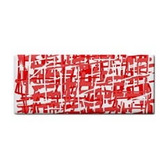 Red decorative pattern Hand Towel