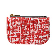 Red decorative pattern Mini Coin Purses